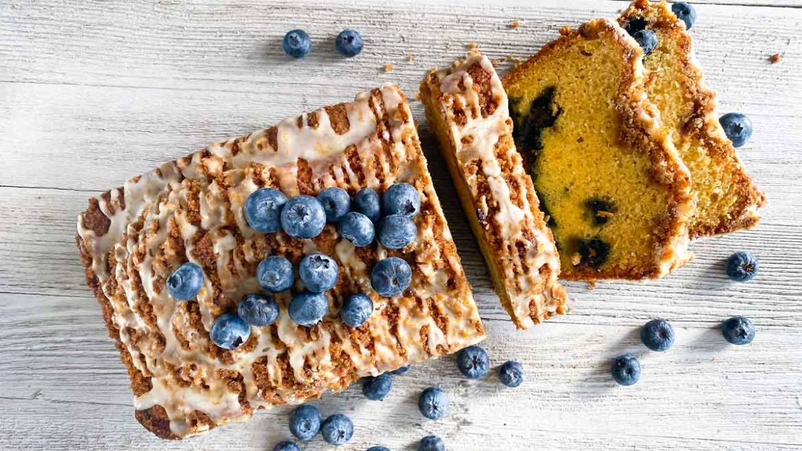 blueberry quick bread coffee cake online baking course bread lady tv shb