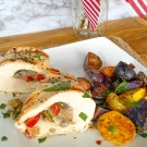Red, White And Blue Stuffed Chicken